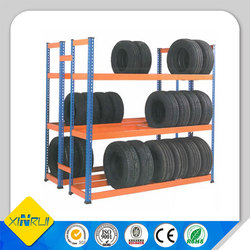 metal warehouse durable tyre rack for industrial