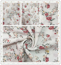China supplier ITY small flowers printed crinkle crepe chiffon fabric