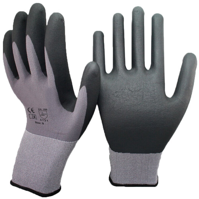 15 Gauge Seamless Knit Nylon Spandex Micro Foam Nitrile <strong>Gloves</strong> For Industrial Safety Work