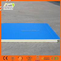 Galvanized Steel Colorful Coating PU/PIR Polyurethane Sandwich Panel for Warehouse