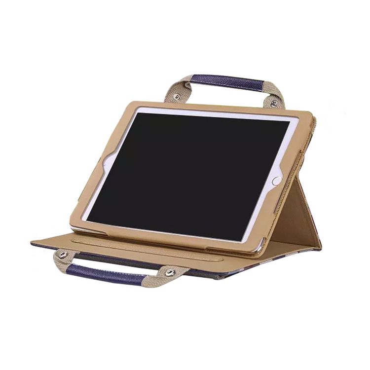 new design product pu leather case with handle for ipad mini 2 leather case