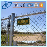 Factory Direct 6 gauge chain link fence and garden fence