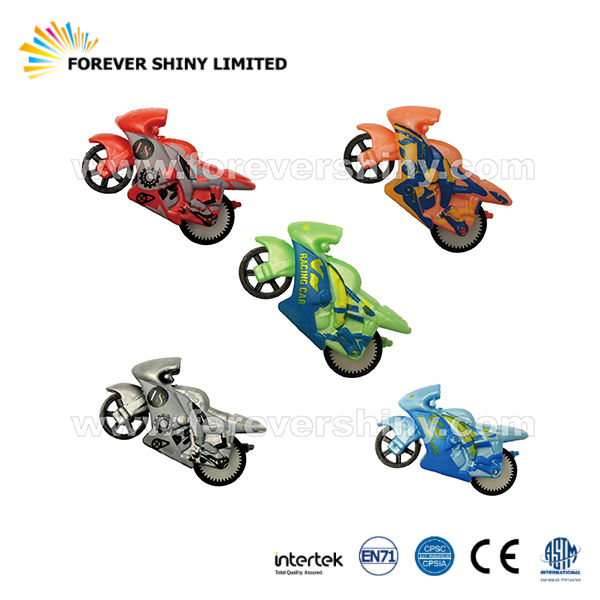 OEM ODM Capsules Car Small Toys Friction Inertia HIPS Racing Motorcycles for Vending Machines