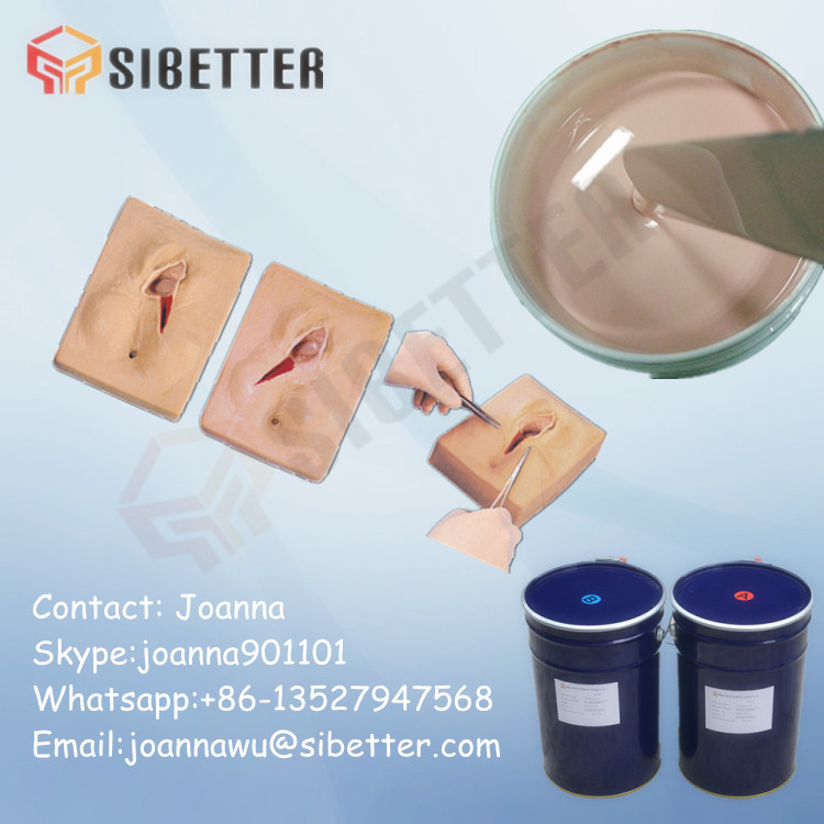 Soft Silicone Rubber Raw Material for Vagina Suture Model Making
