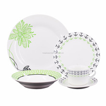 20pcs cactus design porcelain dinnerware set