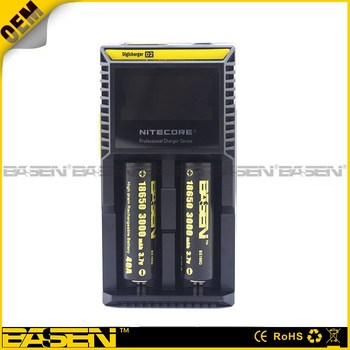 Authorized 100% Authentic Nitecore digi D2 battery charger 18650 charger Nitecore D2 intelligent I2 I4/D4/D2 D2 charger