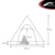 4 Person Waterproof Large Family Camping Luxury Glamping Bell Tent