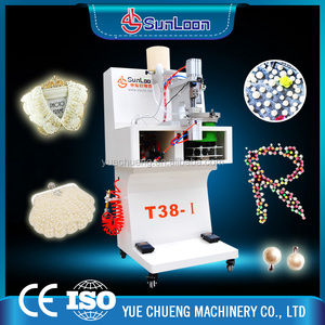 Wholesale china factory pearl nailing machine,automatic snap button attaching machine,automatic pearl setting machine