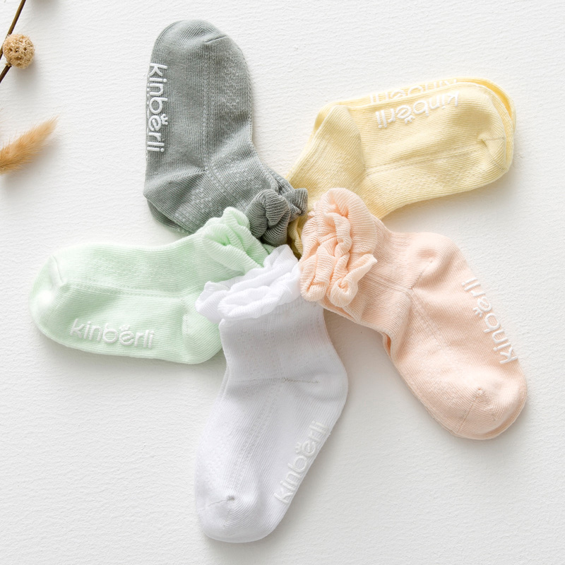 Free sample custom baby knee high plain white baby socks