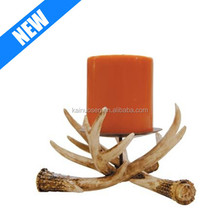 6-inch antler pillar deer candle holder for sale