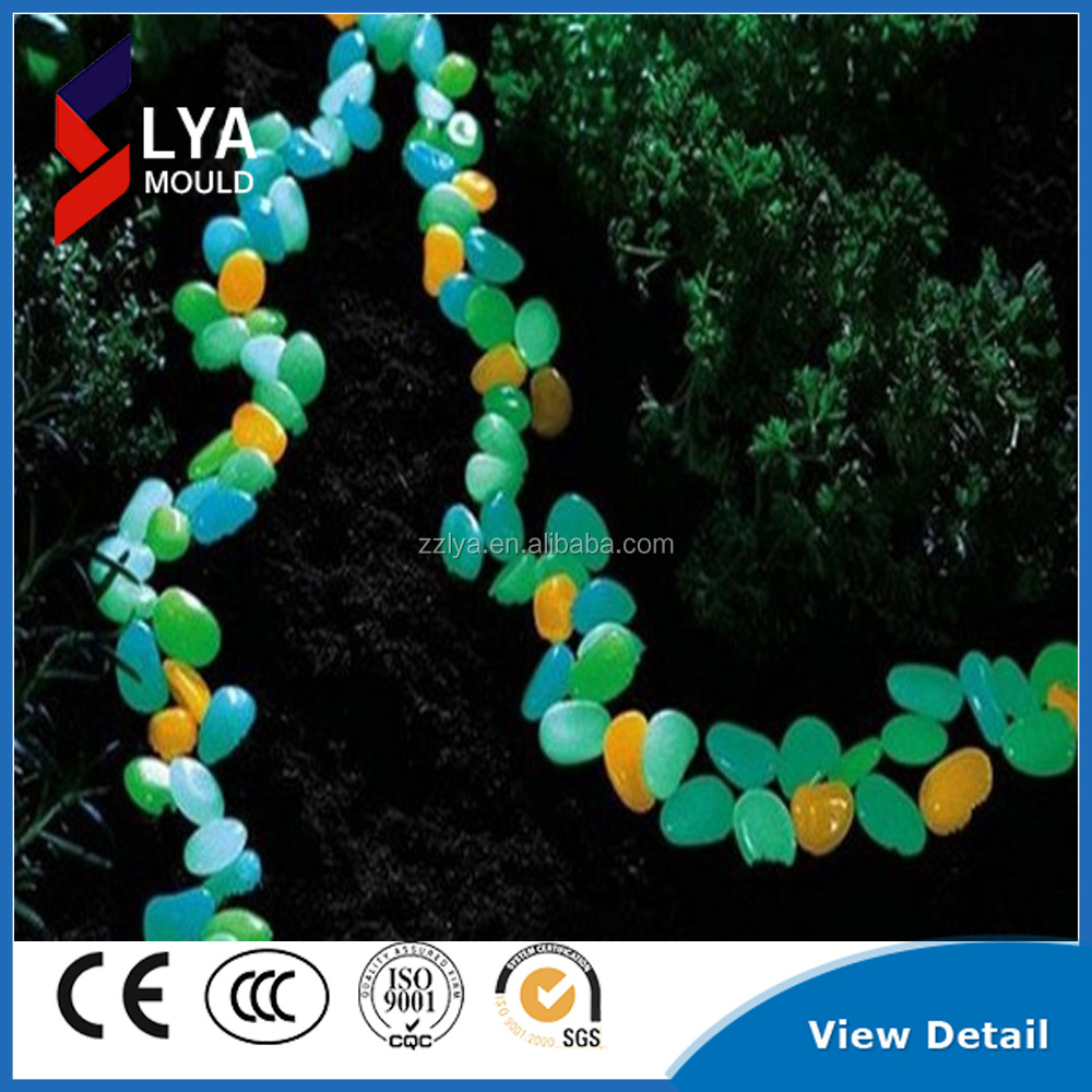 colorful glow in the dark garden pebble paving stones