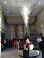 Large Hotel Hand Blown Glass Chandelier For Decoration Lustre
