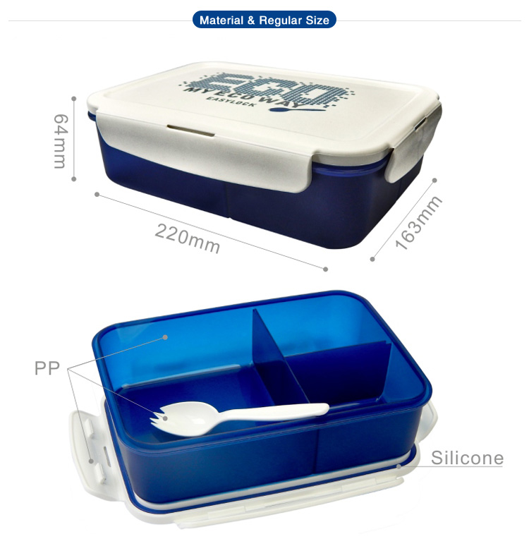 Easylock Best Kids Plastic Bento Lunch Box with Compartment