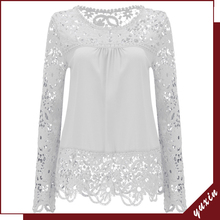 woman blouse Lady blouse & top new fashion lace blouse designs LT011