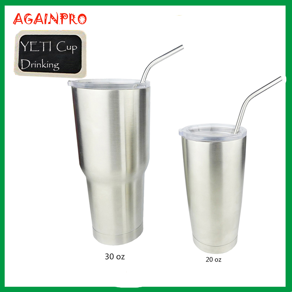 18/8 Reusable 304 Stainless Steel Price for 20 oz & 30 oz RTIC Brand Ramblers Tumblers Cups Bent and Straight