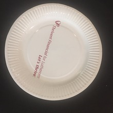 "7"" disposable white paper plate"