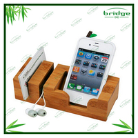 eco-friendly bamboo handphone / charger /headset holder