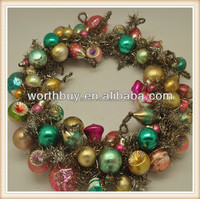 "8"" Antique glass beads decorative wreaths for front door"