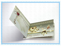 factory price heart shaped 4.3 inch lovely japanese wedding invitation card