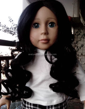 baby doll wigs/long curly black doll wigs/18 doll wigs african american