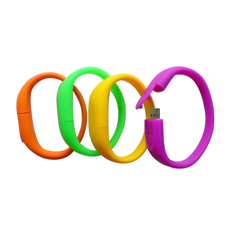Colorful Silicone Bracelet 8 GB Pendrive USB Flash Memory Drive