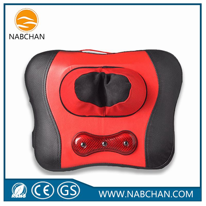 Multifunction kneading shiatsu massage butterfly pillow OEM roller red neck massage