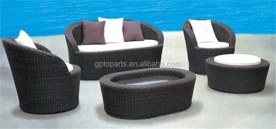 Outdoor rattan sofa furniture modern round sofa