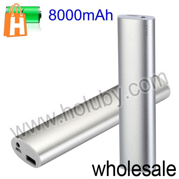 High Capacity Portable Power Bank 8000mAh for iPod iPhone GPS PSP MP3 MP4