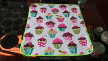 Dish Drying Mat (Cake Printed Terry Cloth+Stripe Terry Cloth+5mm Sponge)