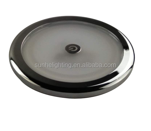 OEM Service ultra-thin recessed interior rv light round 12V LED Dome Ceiling Caravan Light