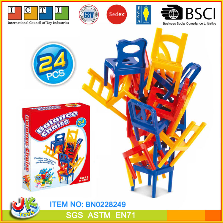 "[JK TOYS] Stack Game To Kids ""Balance Chairs"""