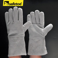 Welding gloves white cheap price for welding workers FL-1023