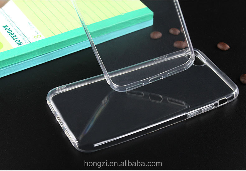 High quality soft shell for apple iP 6 7 cases transparent waterproof seal around 0.85 mm thickness hang rope hole design