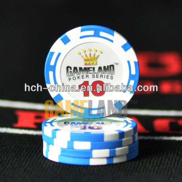 14g Two-Tone Stripe Clay Composite Poker Chips Pokerchips