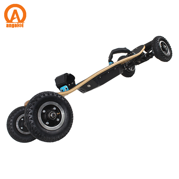 2017 hot sell Canadian Maple wood skateboard moutain board dual motor off road electric skateboard