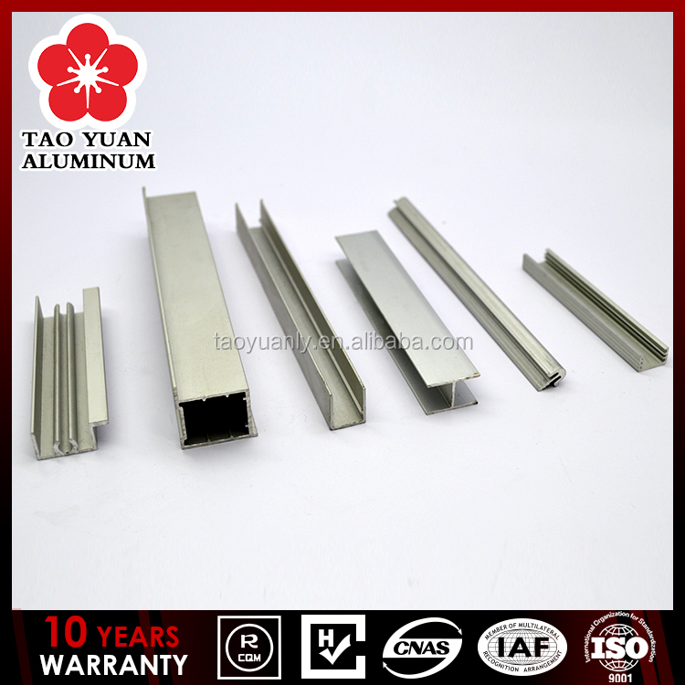 aluminium extrusion 6063 durable aluminium frame for wardrobe doors