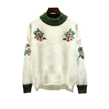 Design of hand knitting sweater basic cotton clothing