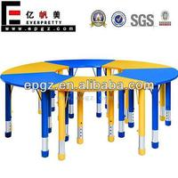 Adjustable 6 Seaters Kids Table Used Pre-school Furniture