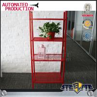 Trapezoid metal garden flower shelf with 4 tier