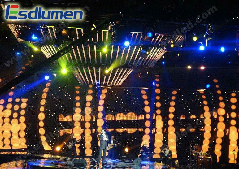 High brightness Curtain P31.25 Outdoor fullcolor advertising stage Rental Large programmable led message display panel board