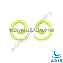 UV Acrylic Spiral Ear Plugs Taper Stretcher