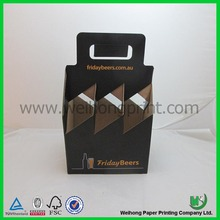 black paper corrugated cardboard wine carrier box