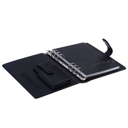 High Quality PU Leather Ring Binder Notebook With Magnet