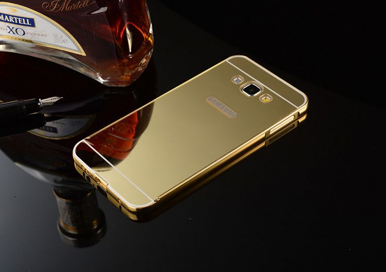 For Samsung Galaxy S5 Mini Bumper Case,Luxury Aluminum Ultra-Thin Mirror Metal Case