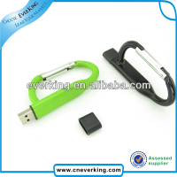Fashion USB drive metal carabiner usb flash memory
