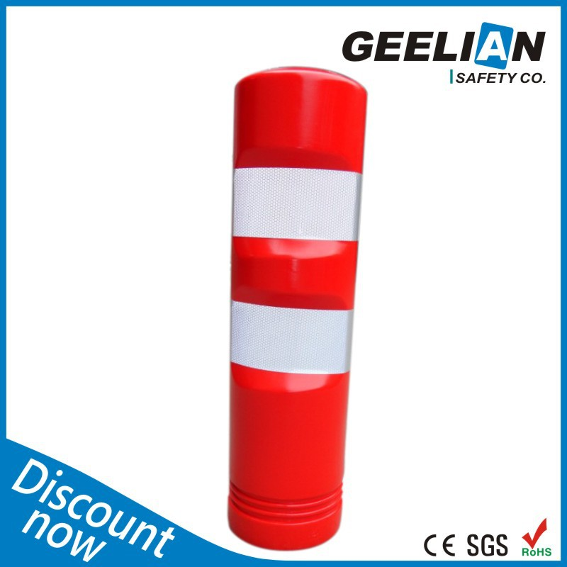 Traffic reflective road divider / flexible delineator post / elastic pole
