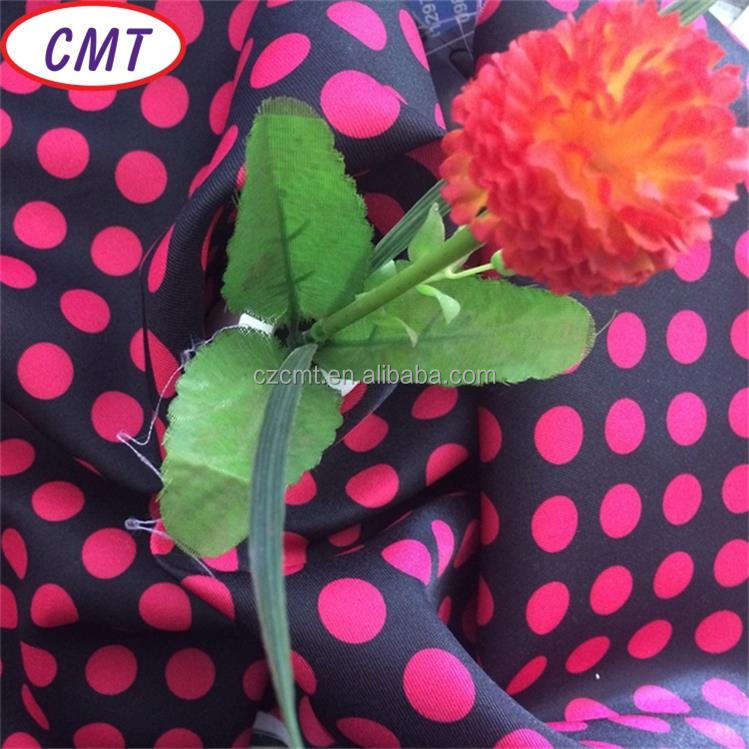 Changzhou Cement dot printed 210D 100% polyester taffeta fabric for wallet