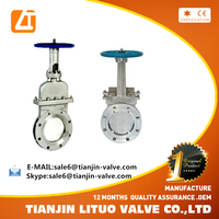 high quality stainless steel steam knife gate valve