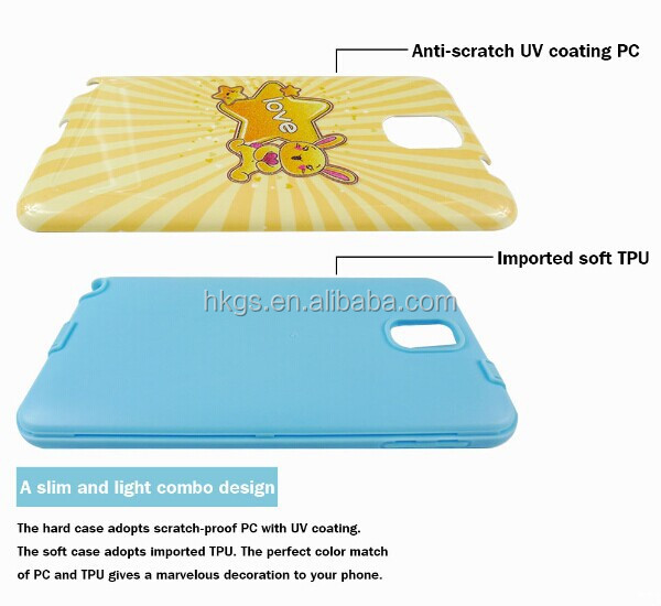 2 in 1 PC + TPU Printing Combo Phone Cover Case For Digicel DL810