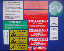 High Quality Solar Safety Labels with Competitive Prices